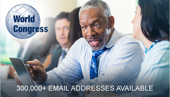 World Congress Events Business Mailing and Email Data
